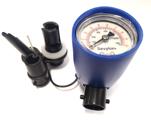 Sevylor Universal Manometer Inline Presure Gauge Blue